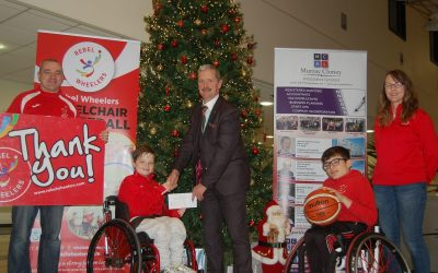Rebel Wheelers Fundraising Cheque Presentation